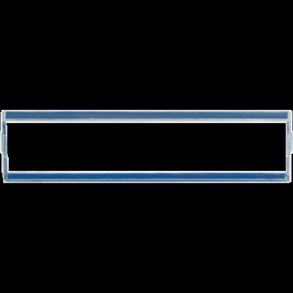 JUNG AS82NA Transparente Abdeckung für Schriftfeld 13 x 55,5 mm