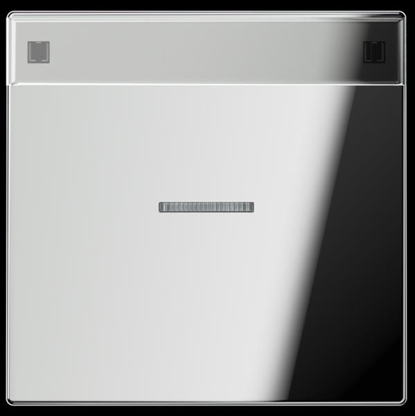 JUNG GCR2990NAKO5 Kontroll-Wippe mit Schriftfeld Glanz-Chrom