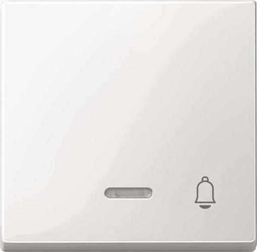 """Merten 435819 Kontroll-Wippe mit Symbol """"Klingel"""" Polarweiß-Glänzend"""