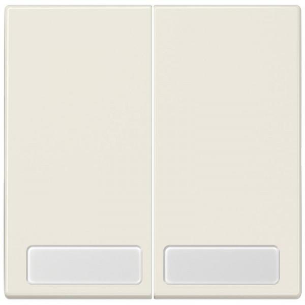 JUNG LS995NA Serien-Wippe mit Schriftfeld Creme-Weiß