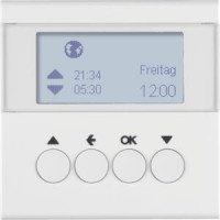 Berker 85741189 Jalousie-Schaltuhr S.1/B.3/B.7 Polarweiß, Glänzend