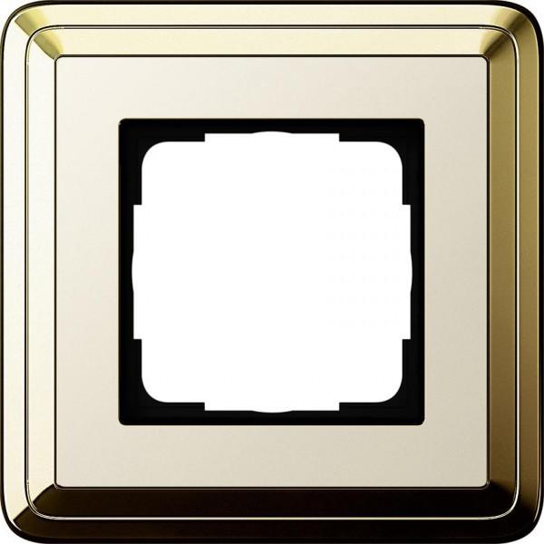 GIRA 0211633 Rahmen 1-Fach ClassicX Messing-Cremeweiß