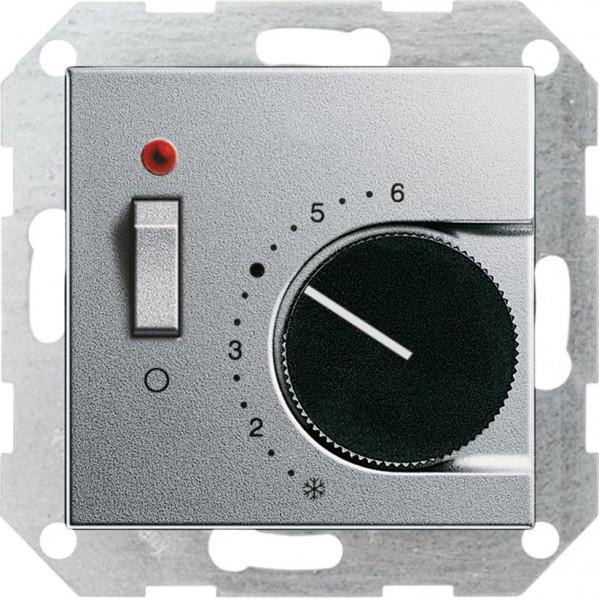 """GIRA 039326 Temperaturregler mit Schalter """"Öffner"""" Farbe-Alu"""