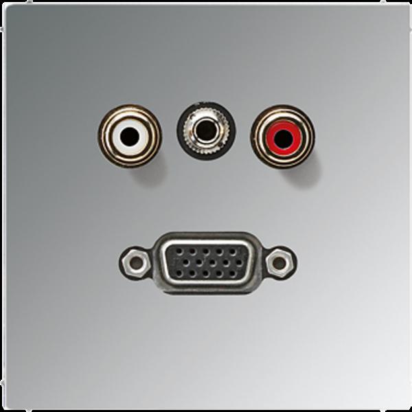 JUNG MAGCR1072 Cinch Audio-Miniklinke 3,5 mm-VGA Glanz-Chrom