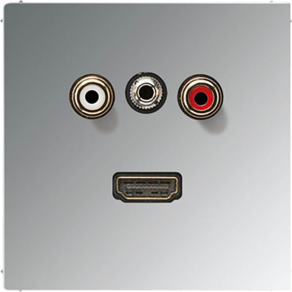 JUNG MAGCR1082 Cinch Audio-Miniklinke 3,5 mm-HDMI Glanz-Chrom