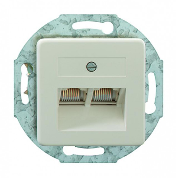 RUTENBECK 13010308 UAE 2x8(8) Up50 Anschlußdose Creme-Weiß