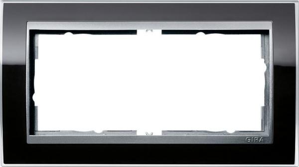 GIRA 1002736 Rahmen 2-Fach E2 ohne Mittelsteg Event-Klar Schwarz/ Farbe-Alu