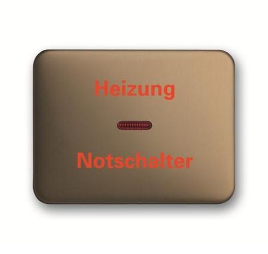 3 Stück Busch Jäger nea Wippe Kontroll bronze mit roter Kalotte