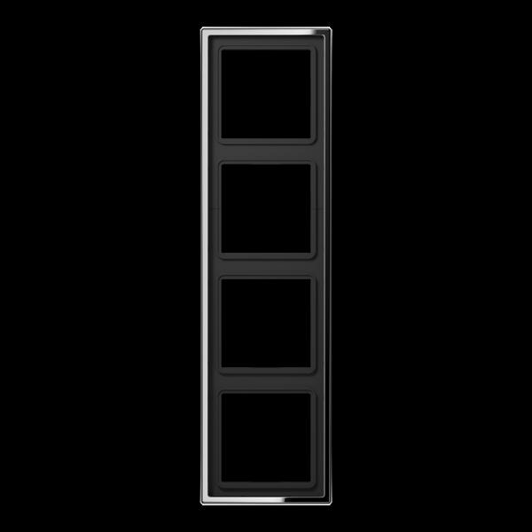 JUNG GCR2984 Rahmen 4-Fach LS-Serie Glanz-Chrom