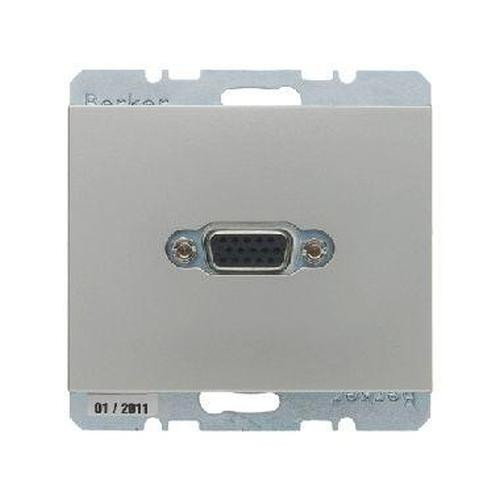 Berker 3315417004 VGA Steckdose mit Schraub-Liftklemmen K.5 Edelstahl, Lackiert