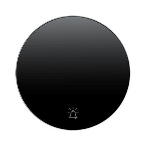 Berker 16202025 Wippe mit Aufdruck Symbol Klingel R.1/R.3 Schwarz, Glänzend