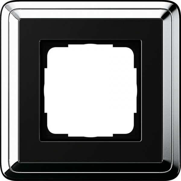 GIRA 0211642 Rahmen 1-Fach ClassicX Chrom-Schwarz