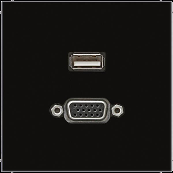 JUNG MALS1183SW USB2.0-VGA Schwarz