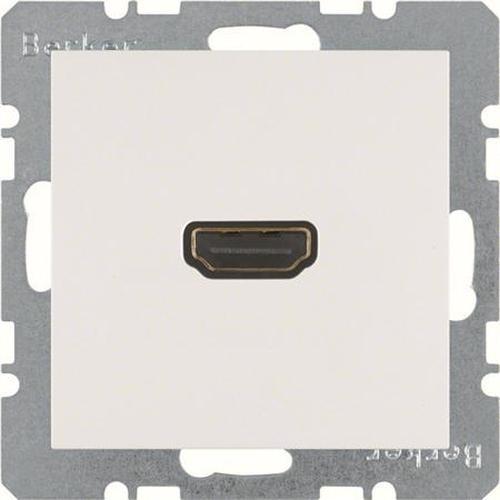Berker 3315431909 High Definition Steckdose mit 90°-Steckanschluss S.1/B.3/B.7 Polarweiß, Matt