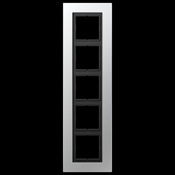 JUNG LSP985AL Rahmen 5-Fach LS-Serie Aluminium
