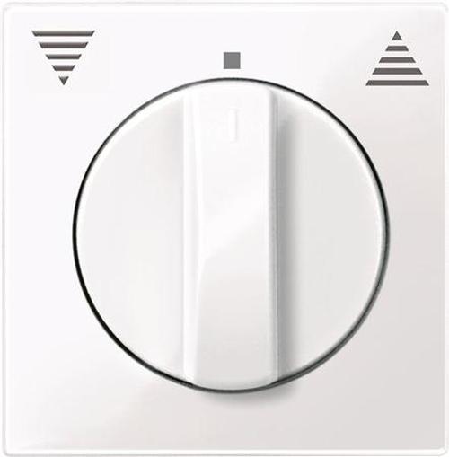 Merten 567125 Zentralplatte Jalousie mit Drehknopf Aktivweiß-Glänzend