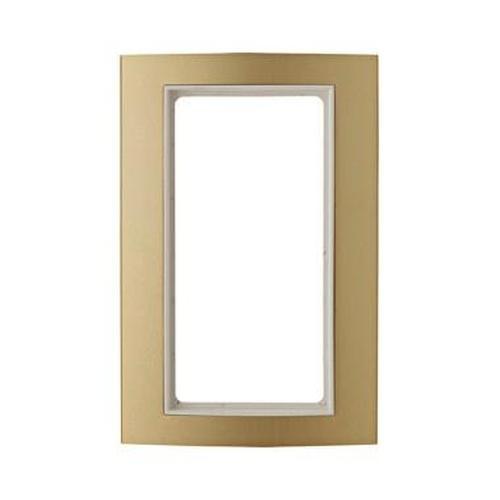 Berker 13093046 Rahmen mit großem Ausschnitt B.3 Alu, Gold/Polarweiß
