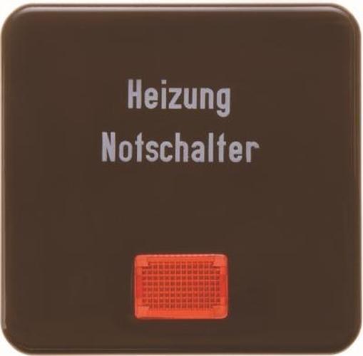 Berker 156801 Wippe 'Heizung' mit roter Linse wg Up IP44 Braun, Glänzend