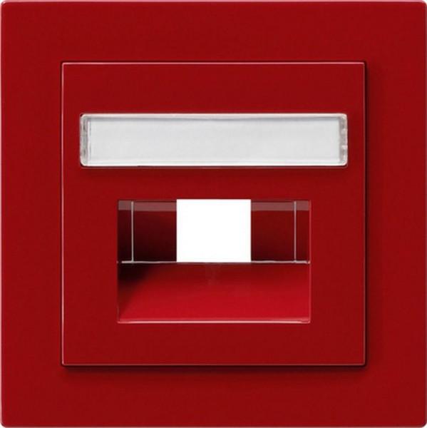 GIRA 028443 Abdeckung UAE/IAE mit Beschriftungsfeld Rot