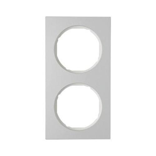 Berker 10122274 Rahmen 2Fach R.3 Alu/Polarweiß