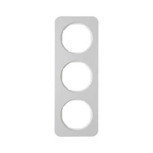 Berker 10132174 Rahmen 3Fach R.1 Alu/Polarweiß