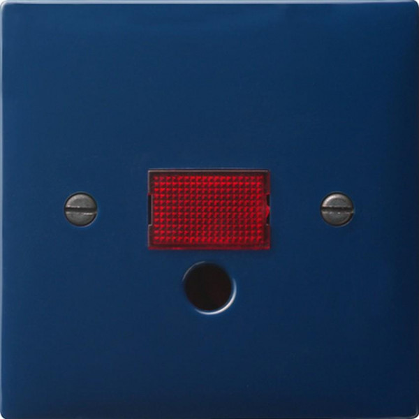 GIRA 063846 Abdeckung mit großem Kontrollfenster für Zugschalter Blau