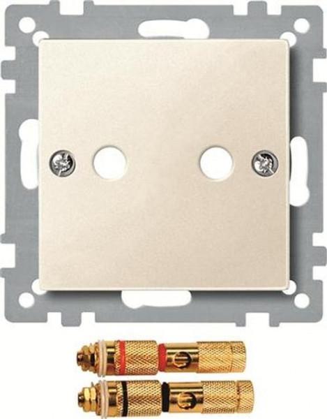 Merten 469344 Zentralplatte mit High-End Lautsprecher-Steckverbinder Weiß