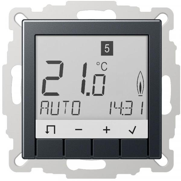 JUNG TRUDA231ANM Raumtemperaturregler Universal mit Display Anthrazit Matt