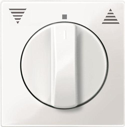 Merten 567119 Zentralplatte Jalousie mit Drehknopf Polarweiß-Glänzend