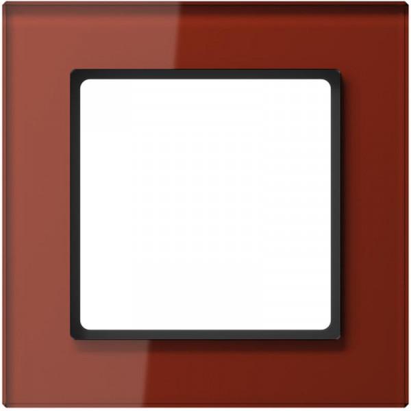 JUNG AC581GLRT Glasrahmen 1-Fach Rot