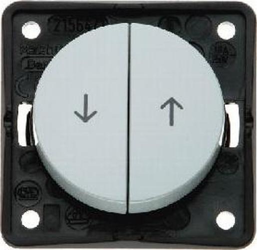 Berker 936532507 Jalousie-Serientaster mit Aufdruck Symbol Pfeile, Integro Flow/Pure, Grau Gl.