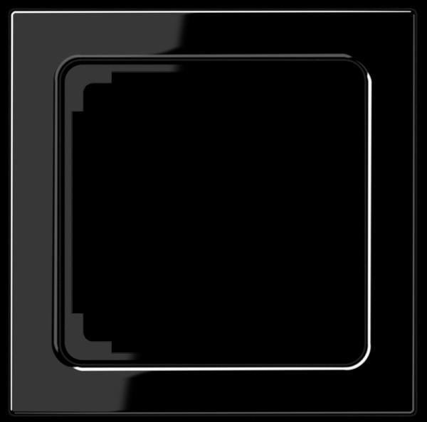 JUNG LS961ZSW Zwischenrahmen für Geräte 50 x 50 mm Schwarz