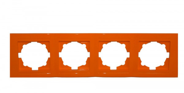 Moderna 4-Fach Abdeckrahmen Orange
