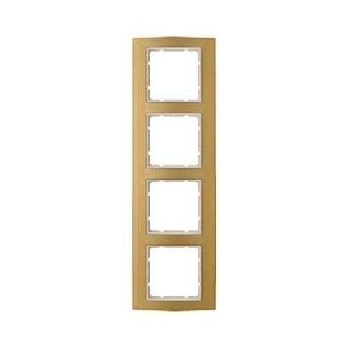 Berker 10143046 Rahmen 4Fach B.3 Alu, Gold/Polarweiß