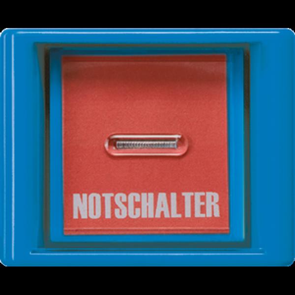 JUNG AS561GLBL Abdeckung mit Glasscheibe Blau