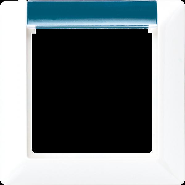 JUNG AS581-1BFINAWW Rahmen 1-Fach mit Fenster, Beleuchtbar Alpinweiß