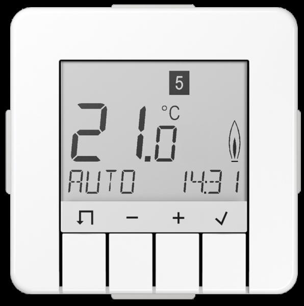 JUNG TRUDCD231WW Raumtemperaturregler Universal mit Display Alpinweiß