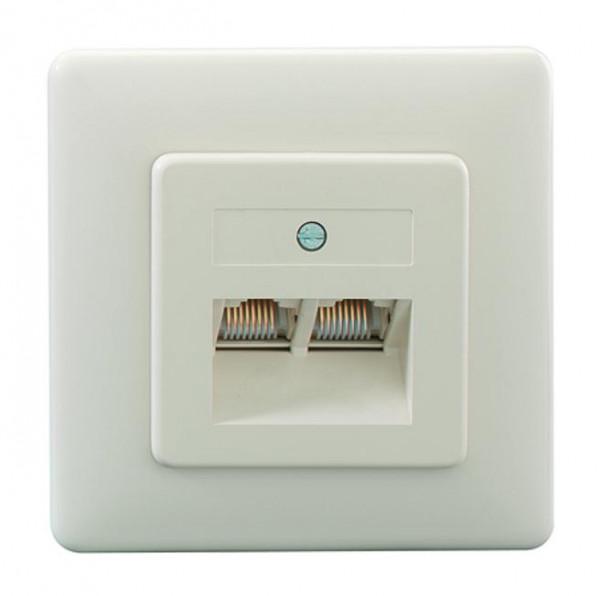 RUTENBECK 13010212 UAE 2x8(8) Up Anschlußdose Creme-Weiß