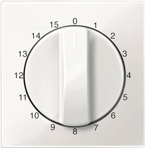 """Merten 567419 Abdeckung Zeitschaltuhr """"15 Min"""" Polarweiß-Glänzend"""