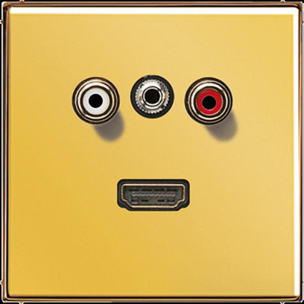 JUNG MAGO1082 Cinch Audio-Miniklinke 3,5 mm-HDMI Goldfarben