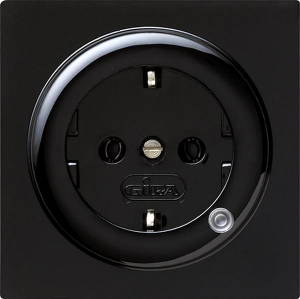 GIRA 018247 Steckdosen-Einsatz mit Kontrolllicht Schwarz