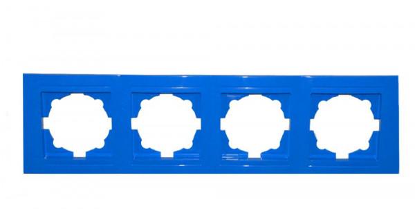 Moderna 4-Fach Abdeckrahmen Blau