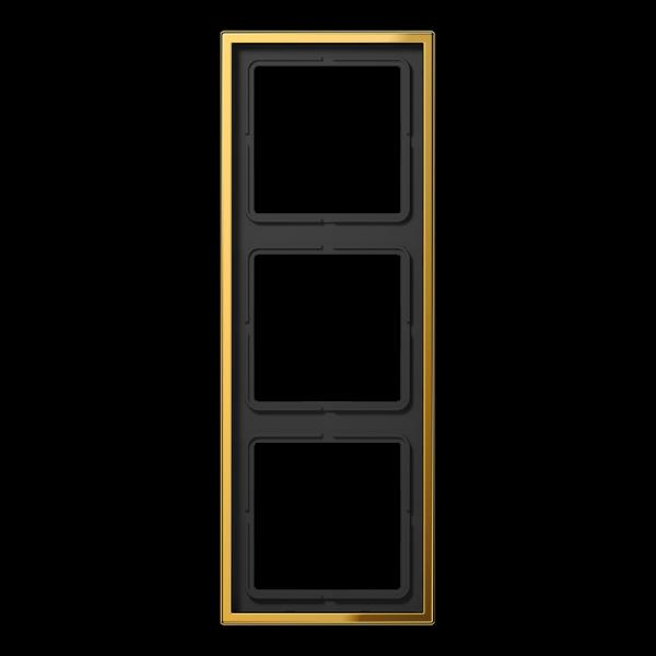 JUNG GO2983 Rahmen 3-Fach LS-Serie Goldfarben
