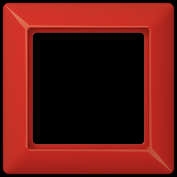 JUNG AS581BFRT Rahmen 1-Fach Rot