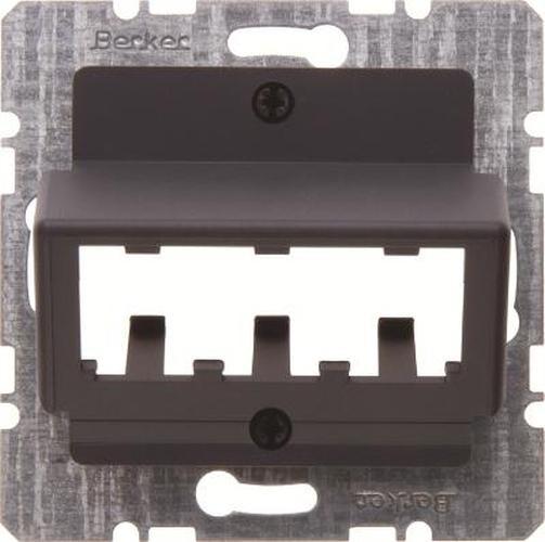 Berker 14271606 Zentralplatte für 3 MINI-COM Module Zentralplattensystem Anthrazit Matt/Samt