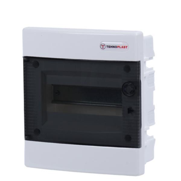 Tehnoplast U8C Unterputzverteiler 1-Reihig 8PLE Tür Transparent