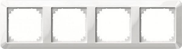 Merten 389419 Rahmen 4-Fach 1-M Polarweiß Glänzend