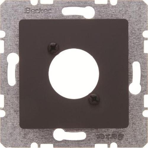 Berker 14121606 Zentralplatte für XLR-Rundsteckverbinder D-Serie Anthrazit Matt/Samt