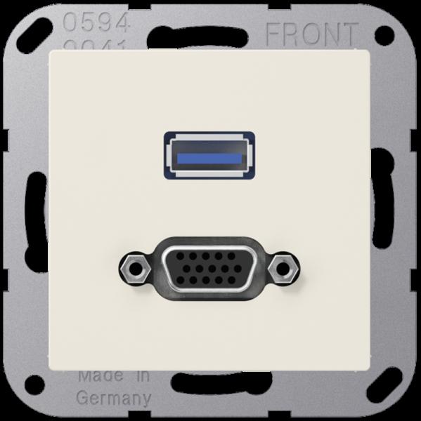 JUNG MAA1183 USB2.0/VGA Cremeweiß