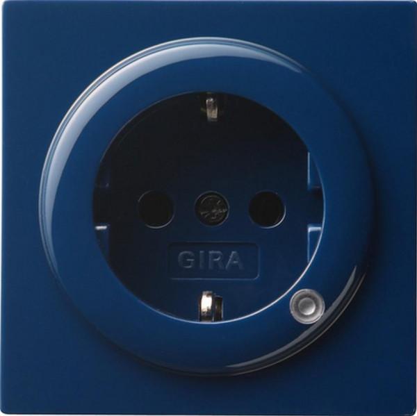 GIRA 018246 Steckdosen-Einsatz mit Kontrolllicht Blau